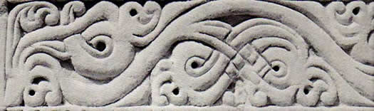 exterior coral stone carving, friday mosque, maldives